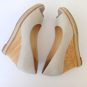 Cole Haan. Nikeair. peep toe wedges.